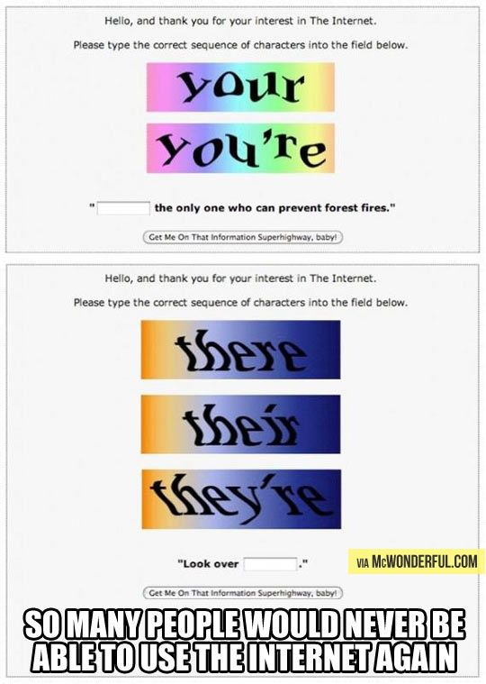 The internet test. This needs to be applied to all text based websites.