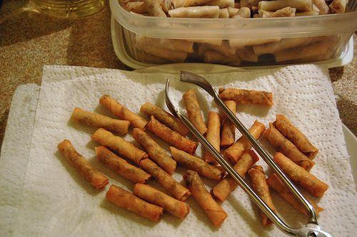 Mini Spicy Shrimp Rolls | Recipes | Pinterest