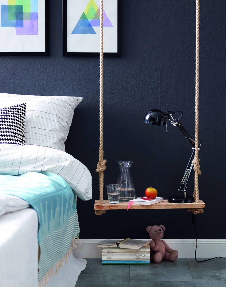 DIY Hovering Bedside Table Bedroom Closet Pinterest