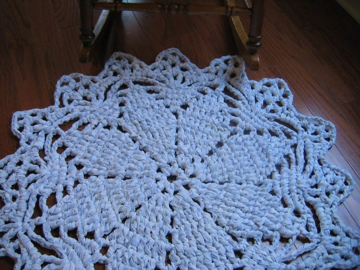 Crochet Patterns Rugs : free rag crochet patterns Rag Crochet Doily Rug Pattern by ...