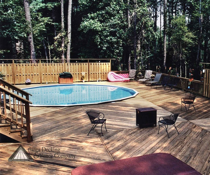 Pin by pool pricer on above ground pool decks pinterest for Above ground pool decks indianapolis
