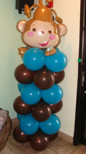 Pinterest discover and save creative ideas - Monkey balloons for baby shower ...