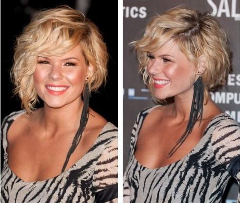 Kimberly Caldwell s adorable asymmetrical wavy hair  Perfect for    Asymmetrical Bob Kimberly Caldwell