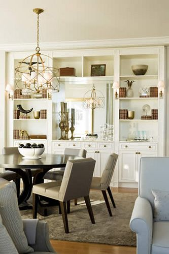 White built ins built ins pinterest for Dining room storage