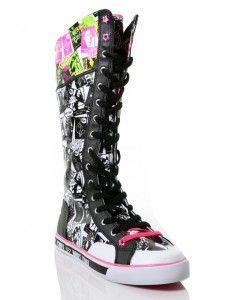 High Leg Girl Tenni Shoes | Girls Knee High Tennis Shoes | VIP Womens