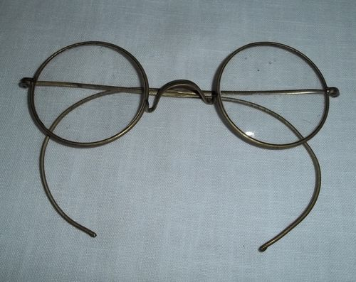 Wire Frame Glasses Vintage : Vintage Eye Glasses Spectacles Metal Frame Silver Wire ...