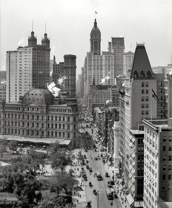 Broadway new york city c 1910 b w pinterest for Architektur 1910