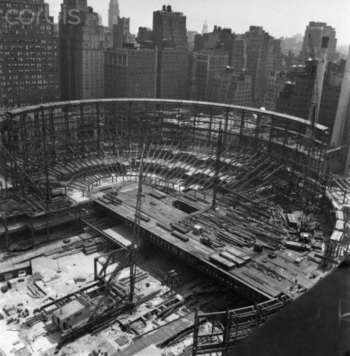 Madison Square Garden 1966 Under Construction Pinterest