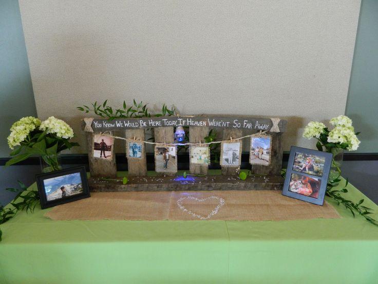 Memory Table Wedding Ideas Pinterest