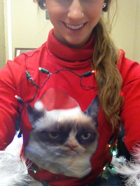 grumpy cat Christmas sweater! | clothes & things | Pinterest