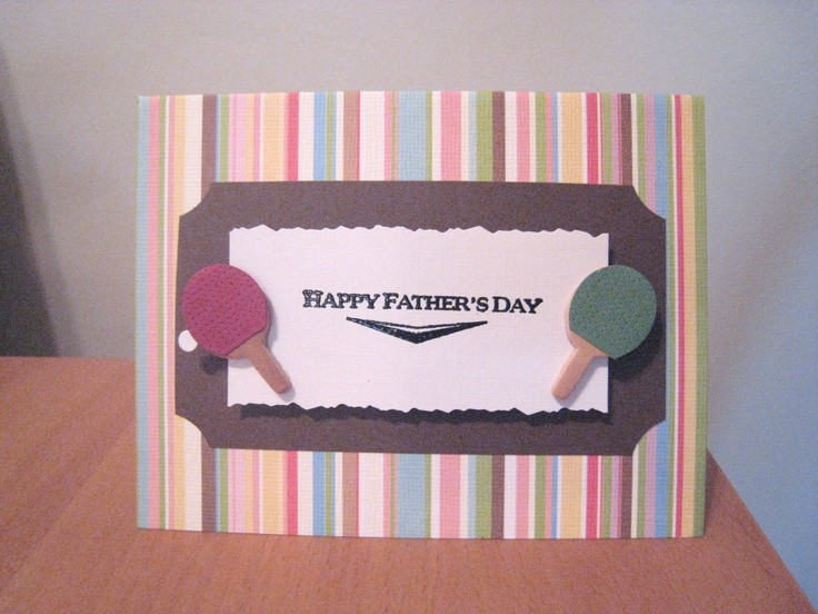 fathers day rosette card
