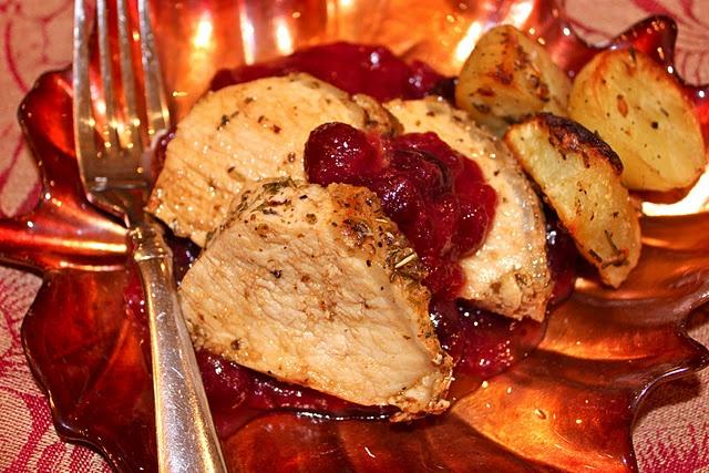 pork tenderloin with dijion cranberry sauce