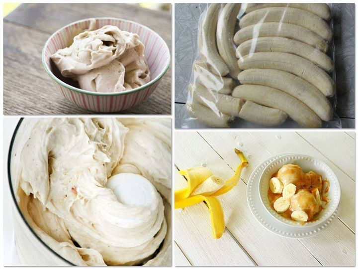 "Guilt free banana ""ice cream"" 