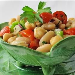 mediterranean bean salad i like to use black and kidney beans and corn