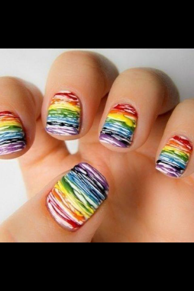 Looks like melted crayons :) | fashion me | Pinterest