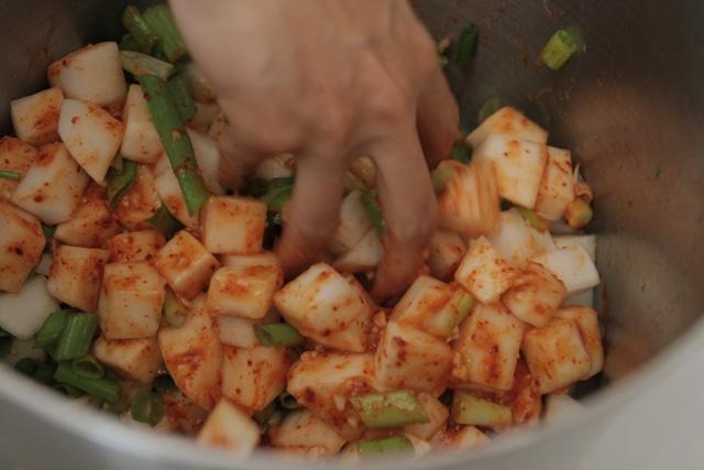 Recipe: kkakdugi (daikon kimchi) | Korean Food | Pinterest