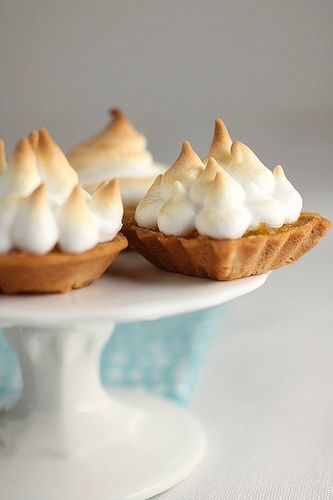 Lemon Meringue tarts. I could use these right now. Need some summer in ...
