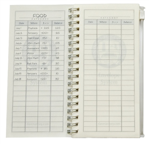 Dave Ramsey's Cash Envelope System Replacement Sheets 4.95$