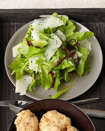 Arugula Salad with Shaved Manchego | edible | Pinterest