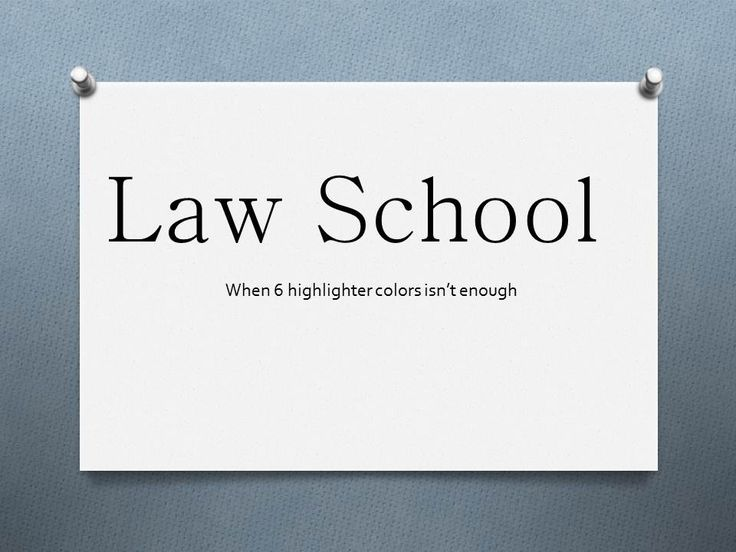 Law fun subjects in college