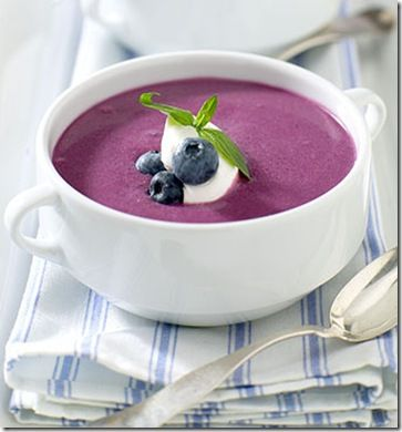 Chilled Blueberry Soup | Yumness!!! | Pinterest