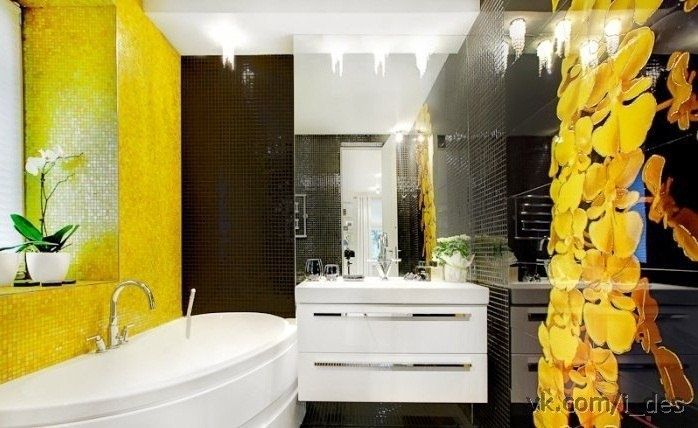 Yellow and black bathroom | Home | Pinterest