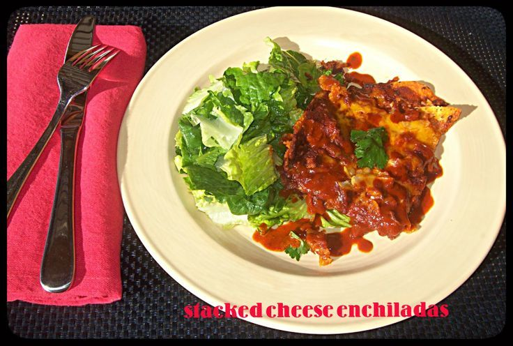 or green?: Stacked Cheese Enchiladas with New Mexican Red Chile Sauce ...