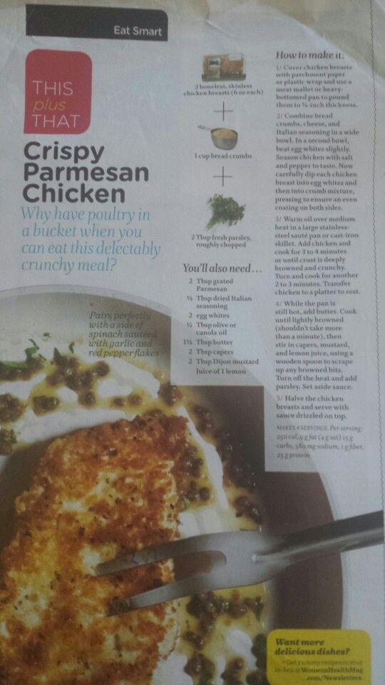 Crispy parmesan chicken | Favorite Recipes | Pinterest