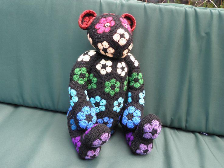 Gallery for Lollo the African Flower Bear pattern by Heidi Bears