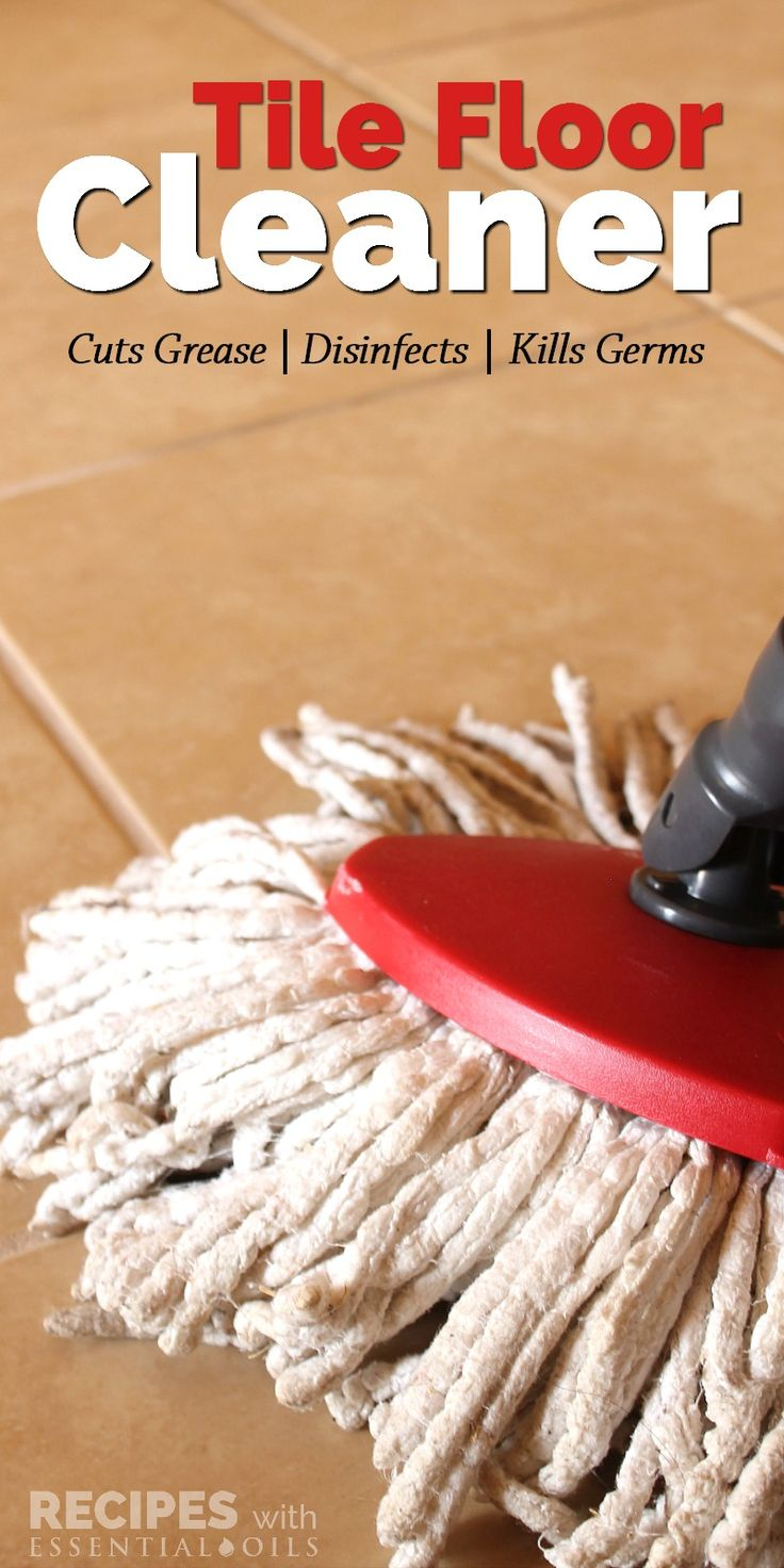 How to mop a tile floor