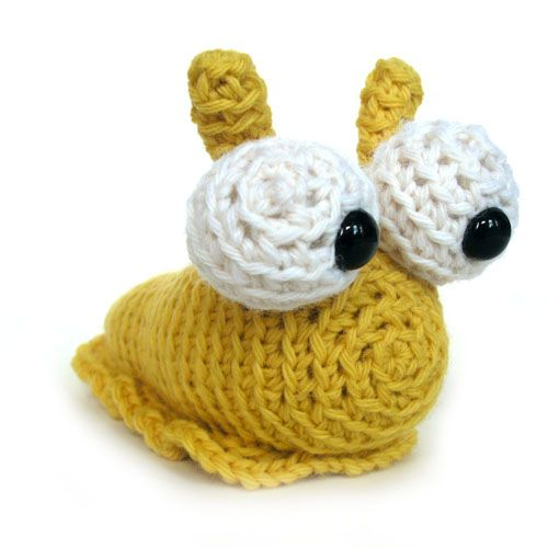Crochet Patterns Stuffed Animals : Hannah the Slug, amigurumi crochet pattern designed by Stacey Trock ...
