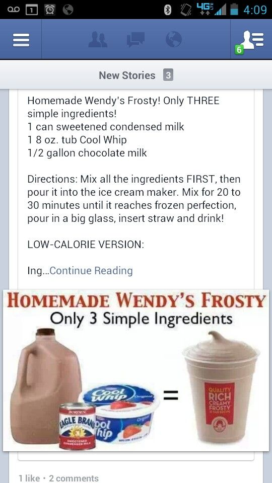 Home Made Wendy's Chocolate Frosty | Sweet Treats | Pinterest