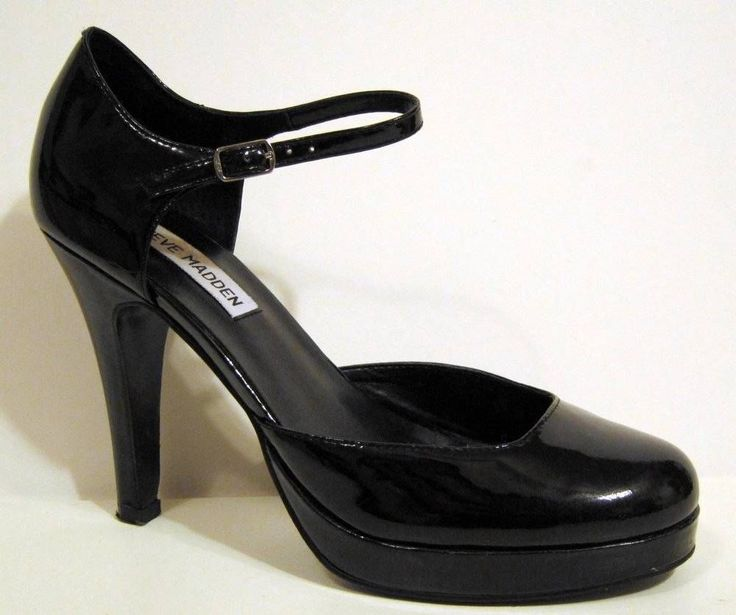 Steve madden black patent leather mary jane pumps car for Steve madden home designs