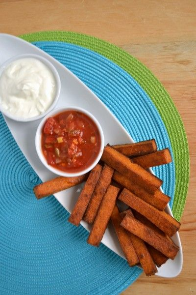 Baked Chili Cheese Polenta Fries gluten free