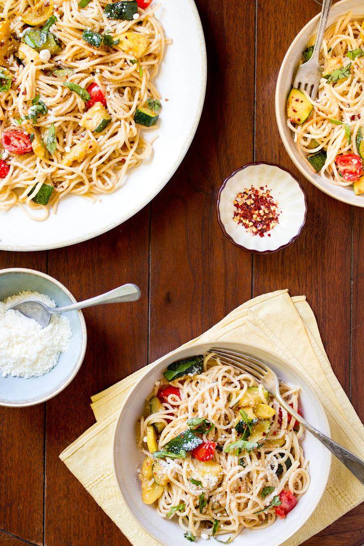Simple Summer Spaghetti [Rikki Snyder]   Pasta & Italiana   Pinterest