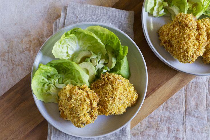 Rosemary-Lemon Cornflake-Crusted Oven Fried Chicken | Recipe