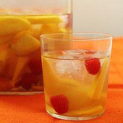 Mango-Raspberry-Peach White Wine Sangria