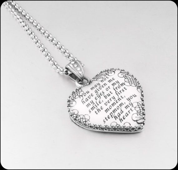 Wedding Gift For Stepmom : ... Jewelry, Stepmother Gift, Stepmom Pendant, Brides Stepmom