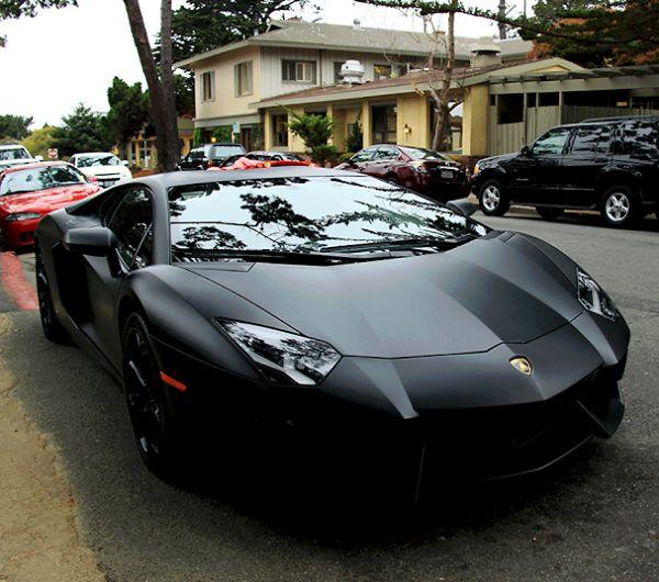 Black Matte Lamborghini Aventador. | My Lifestyle | Pinterest