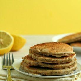 Lemon Poppy Seed Yogurt Pancakes ~ Made with healthy whole-wheat flour ...