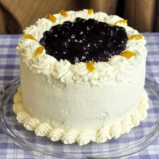 Lemon Blueberry Cream Cake | Desserts Mmm... | Pinterest