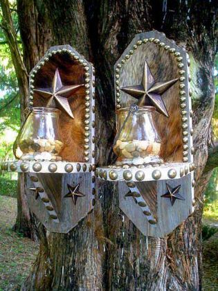 Western Decor Wall Sconces : candle sconces western Pinterest