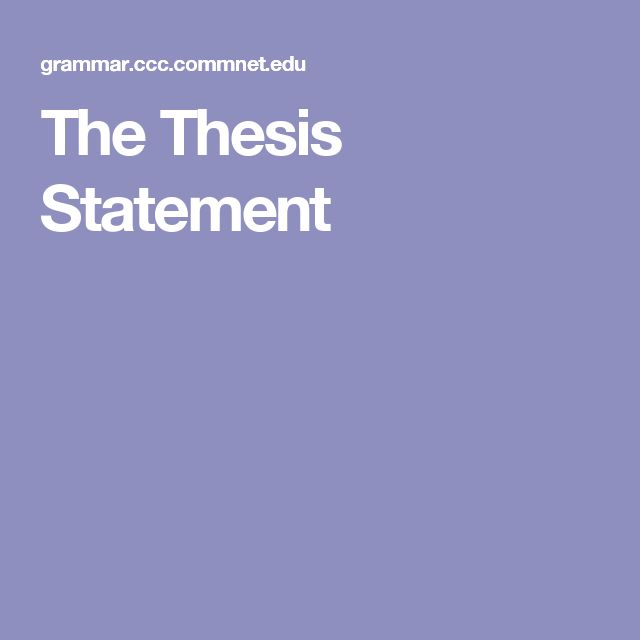 check my thesis statement online