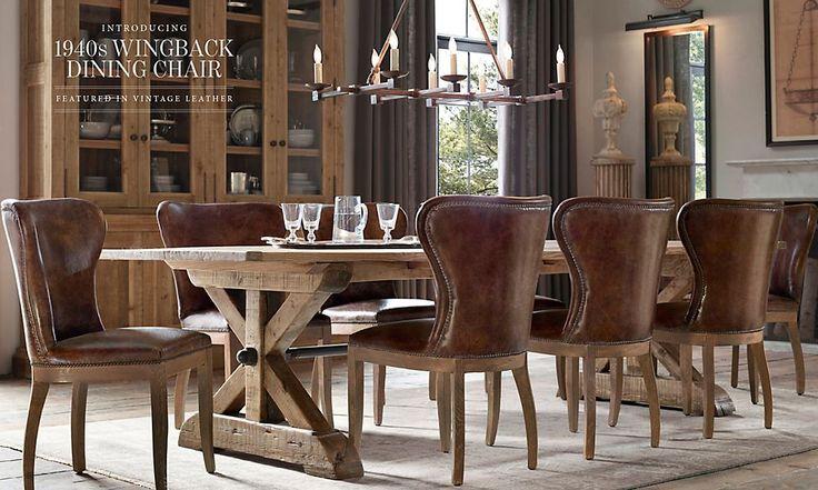 Rooms restoration hardware comedor dining room for Restoration hardware metal chair