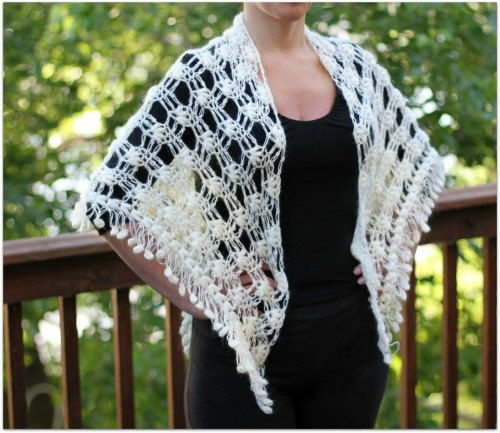 Crochet PATTERN Dainty Loops Shawl - Permission to Sell Finished Items ...