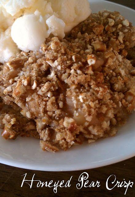 little healthier: Honeyed Pear Crisp (substitute pretzels with ...