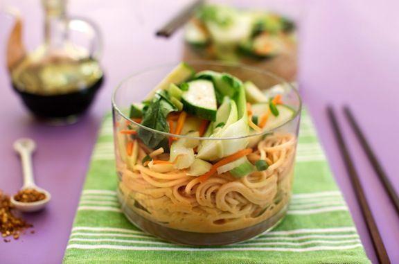 COLD PEANUT BUTTER-SESAME NOODLES | Vegan - Appetizers/Sides | Pinter ...