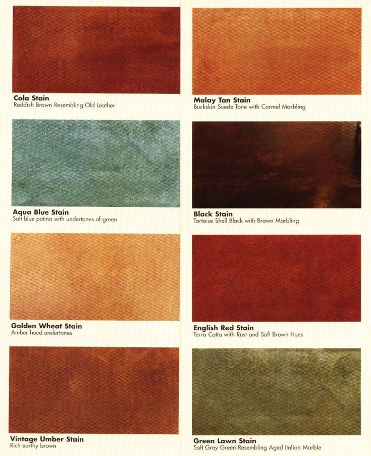 acid-stained concrete floors | Basement | Pinterest
