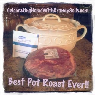 Best Pot Roast Ever! 1 Roast 1 envelope Lipton onion soup mix Place ...