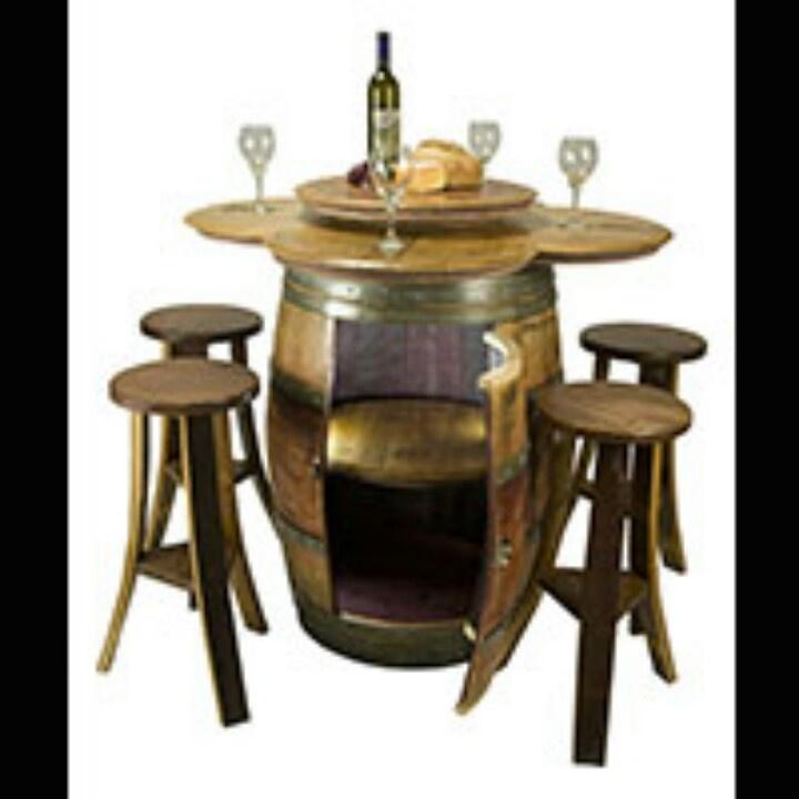 Wine Barrel Table Wine B Table Pinterest